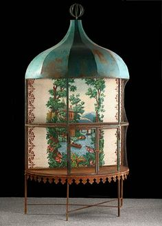 this is just too wonderful....Napoleon III period chinoiserie birdcage...love it...