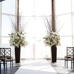 ceremony - large arrangements