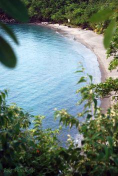 Beach at ti kaye in st lucia