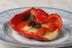 nami-nami: a food blog: Recipe for Mozzarella Stuffed Peppers
