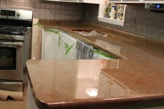 This Old House in New Liberty: Yep, I did it.... redid the Kitchen Counter tops!