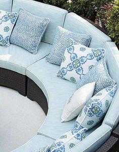 Relax in resort-style luxury on the Palermo Curved Modular Seating, perfect for conversing with guests.
