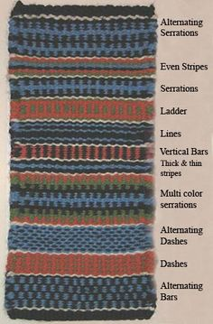 peg loom weaving weaves patterns Google Image Result for http://maurinesfiberfriends.homestead.com/ColorWeaveSample.jpg