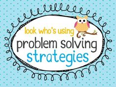 Math Problem Solving Strategies - Owl Theme