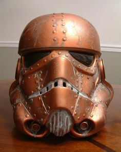 #Steampunk Storm Trooper Helmet designed by Brian Rood