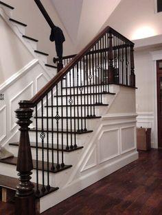 custom newel post and stairs