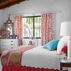 Designer Allison Elebash outfitted her daughter's St. Kitts bedroom with bright colors and fun patterns.