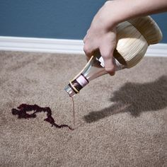 Natural Carpet Cleaner Stain Removing Method