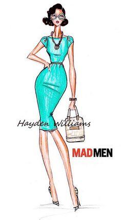 Hayden Williams for Mad Men collection: Design #2 by Fashion_Luva, via Flickr