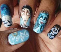 Riddhi's Corpse Bride Nails for Halloween! | NailIt! Magazine