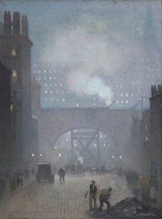 York Street leading to Charles Street, Manchester - Adolphe Valette  1913