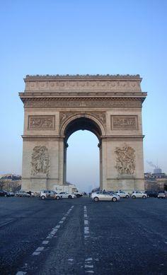 morning at Arc de Triomphe, Paris