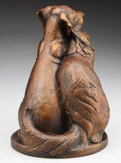Louise Peterson - Great Danes - Puppy Love, bronze edition