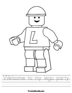 Lego Worksheet #LegoDuploParty