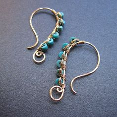 Luxe Bijoux 47 Hammered wire wrapped with by CalicoJunoJewelry, Etsy