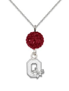 Ohio State Buckeyes Ovation Sterling Silver Pendant Necklace