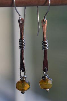.bone drop earrings