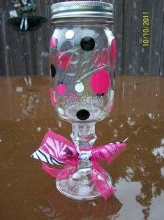 Redneck/Hillbilly wine glasses :) - Click image to find more DIY & Crafts Pinterest pins