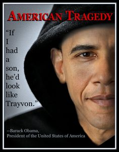 Photo I made of Obama in a hoodie, showing solidarity with the family of Trayvon Martin.