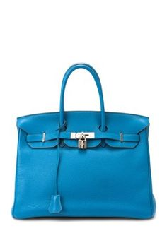 Hermes Leather Birkin 35 Square Handbag