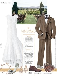 Vineyard wedding Justin Alexander Signature wedding gowns were featured in the Fall issue of The Knot Magazine.  #bride #wedding #rustic #country