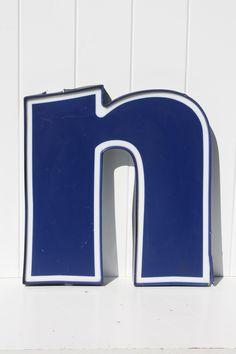 vintage sign letter n