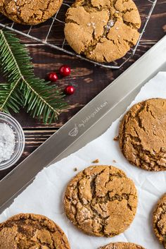 Old-Fashioned Chewy Molasses Cookies | My Baking Addiction