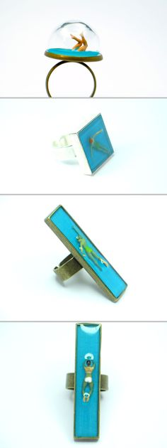 Great creativity in these fun resin pieces  :-)  #handmade #jewelry