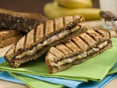 Grilled Banana and Nutella Panini Recipe : Bobby Flay : Food Network - FoodNetwork.com