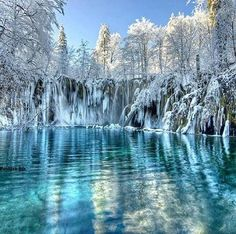 Plitvice Lake, Croatia winter, wonderland, snow, croatia, lakes, national parks, travel, place, plitvic lake