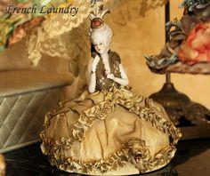 laundri blog, pincushion, porcelain, french laundri, vintage hats