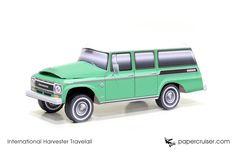 International Harvester Travelall paper model | http://papercruiser.com/downloads/international-travelall/