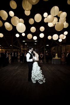 Lanterns at wedding