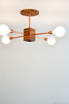 DIY Copper and Wood Light