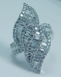 Estate Jewelry Showstopper 14K White Gold 3.5cts Diamond Ring
