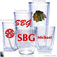 Chicago Blackhawks Personalized Tervis Tumblers