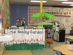 Good reading center idea; imagine if your class project was a garden and you had a science unit on the life cycle of a plant.