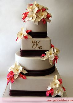 Cymbidium Orchid Wedding Cake