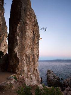 Climbing Cliffbase, Hvar, Croatia