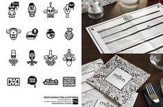 Diseño de cartas Mom Restaurant kid menu, mom restaur, diseño, restaur ident, blog, restaurants, 45 restaur, stationery design