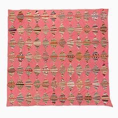 diamond fan, fan artist, quilt top, string quilts, mingei museum