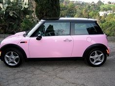 doesn't get better than this...pink mini cooper:)