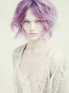 Lavender hair-When I go all gray or at least mostly gray...I am having fun with colors like this :)
