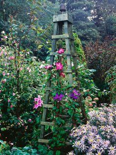 Obelisks Add Height : Flower : Garden Galleries : HGTV - Home & Garden Television