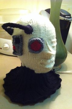 #knit Borg head. You will be assimilated. Resistance is futile. #StarTrek