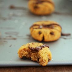 Paleo Almond Pumpkin Choc Chip Cookies  #TheIronYou