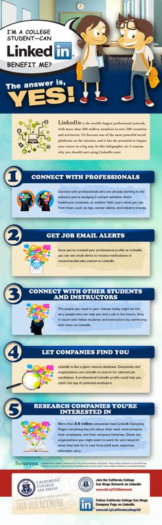 What Do I Put in My LinkedIn Profile if I am College Student? #linkedin #infographic