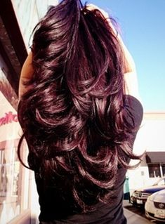 Amazing Dark Violet Hair Colour, thinking about trying this. @Lizeth Martinez @Brittany Golden @Joanna Boutdy