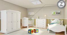 Decoração // Quarto para Bebê // Dois Ambientes // Bebê e Irmã Mais Velha // Simples // ♥