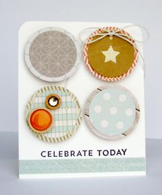 Celebrate Today - Scrapbook.com - Using the soon to be released Jillibean Soup Staples III collection.
